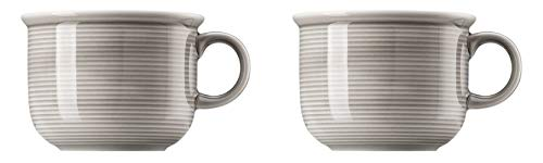 Thomas Trend Colours/Farben - Kaffee-Obertasse - 2er-Set - Tasse Haferl Henkeltasse Kaffeetasse (Moon Grey (Mond-Grau), 2 Stück)