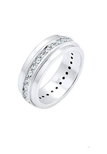 Elli Ring Damen Bandring Klassik mit Swarovski® Kristalle in 925 Sterling Silber