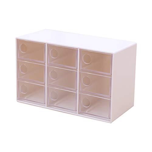 Worglo Vssictor - Caja de Almacenamiento de Joyas de plástico Transparente con...