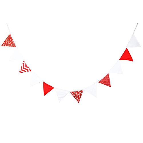 20+ Styles Bunting Flags - 3.2M Print Cotton Fabric Banners Vintage Bunting Baby Shower Garland Garden Wedding Party Decoration (Color : 182)