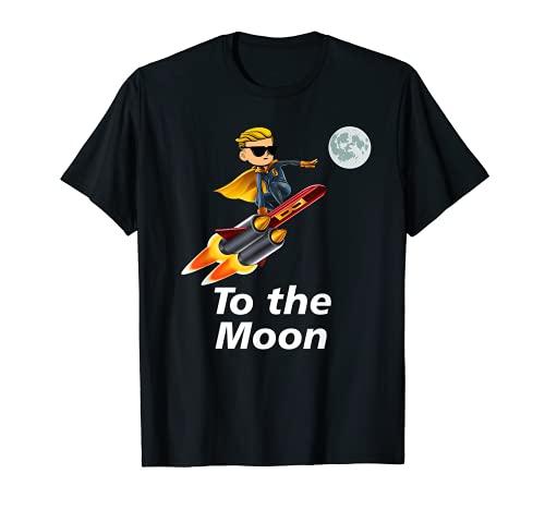 Trader To The Moon GME Gamestonk WSB WallstreetBets Memes Maglietta
