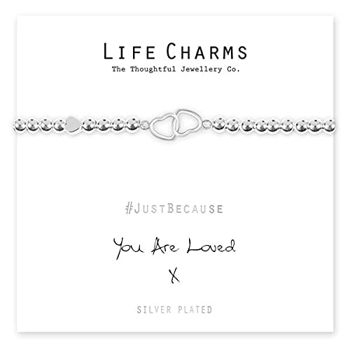 Life Charms Women Jewellery You are Loved Bracelet Wristband Ladies Gif