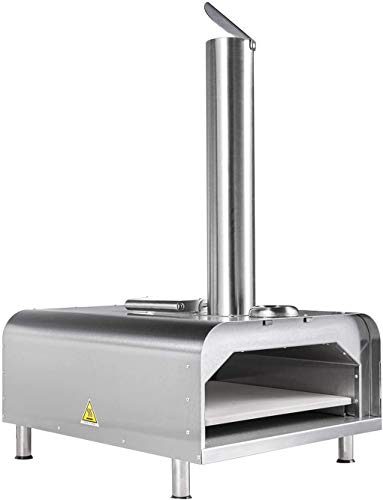 GYBER Fremont Wood Fired Pizza Oven (Outdoor), Fueled by Natural or Flavored Wood Pellet   Fast, Efficient Heating Element   Stainless Steel