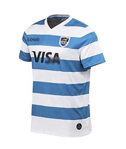 Camiseta de rugby, camiseta de rugby 2020-2021, camiseta de local y camiseta de visitante de Argentina, camiseta deportiva informal, absorbente de sudor, transpirable y de secado rápido, S-3XL S A