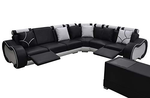 JVmoebel Ecke Leder Modern XXL Couch Wohnlandschaft Ledersofa Sofa L-Form C4030