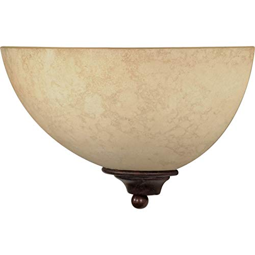 Nuvo 60/044 One Light Wall Sconce with Tuscan Suede Glass, Old Bronze 2 pack