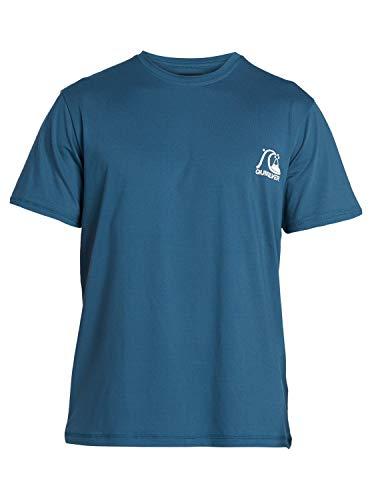 Quiksilver Herren S/sl Surf Tee Heritage - Kurzärmliges Surf-T-Shirt mit UPF 50 für Männer, Majolica Blue, M, EQYWR03236