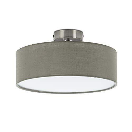 Briloner Leuchten - lámpara de techo, 1 x E14 máx. 40 vatios, pantalla de tela, color: satén, diámetro de 30cm