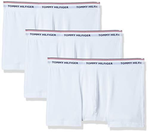 Tommy Hilfiger Herren 3p Trunk Shorts, Weiß (White 100), XXL (3er Pack)