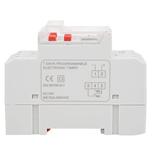 Control de temporizador, interruptor de temporizador fácil de operar con 1 X Interruptor de temporizador 1 X Insturction para el hogar