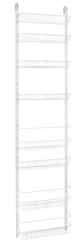 ClosetMaid 1233 Adjustable 8-Tier Wall and Door Rack, 77-Inch Height X 18-Inch Wide,white