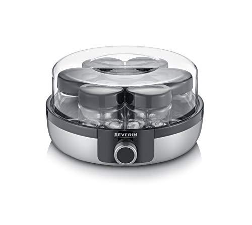 Severin JG 3521 Digital Yoghurt Maker with Automatic Programmes, 7 Glass Jars with Lid, Plastic, 13...