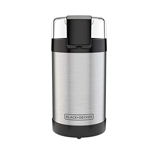 Black & Decker CBG110SC Easy Touch Electric Smartgrind Coffee & Spice Grinder, Black