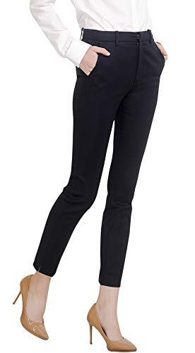 Marycrafts Women's Work Ankle Dress Pants Trousers Slacks S Black 1