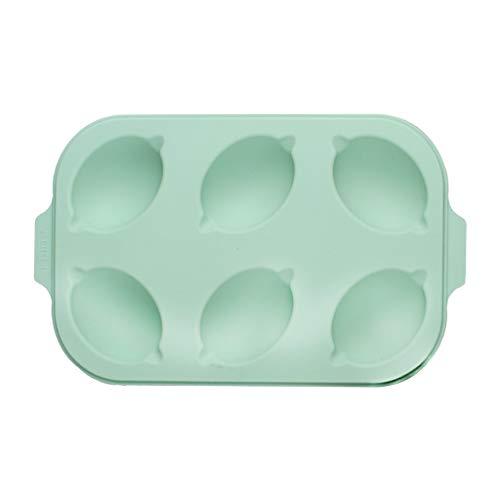 Zitronen-Muffinform, 6 Mulden, Fondant, Schokolade, Kuchendekoration, Backform, Werkzeug, leicht zu reinigen