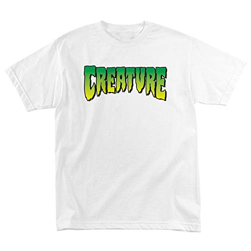 Creature Skateboard Shirt Logo White