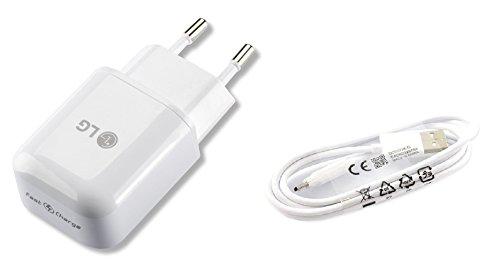 Modulares LG Handy Schnell Ladegerät 1,8 Ampere Plus Micro USB Datenkabel/Ladekabel für LG Mobiltelefone mit Micro USB Anschluss