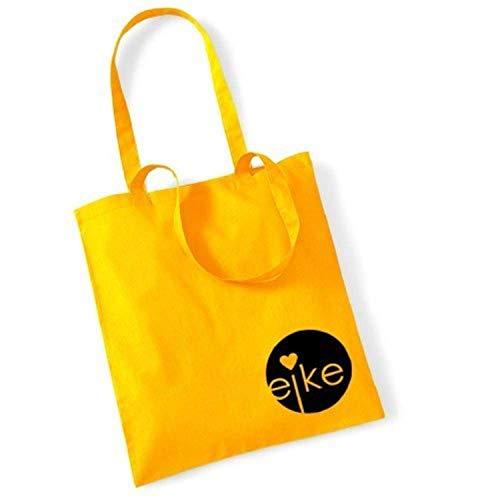 Eike, Borsa a mano donna Giallo giallo 42 x 38 cm