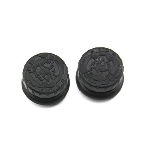 KGDUYH 2PCS Mano Agarre Extensores Tapas para el Controlador PS4 Rendimiento Thumb Agarra Cubiertas de Alto Nivel para Playstation 4 Cubierta de Baja Altura Fácil de Usar (Color : Black B)