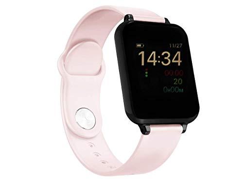 Relógio Unissex Smartwatch Hero Band B57 Relógio Inteligente iOS Android Rosa