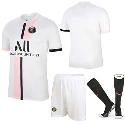 Camiseta De Fútbol, Camiseta Blanca 21-2 Paris Visitante, N. ° 7 Mbappé,...