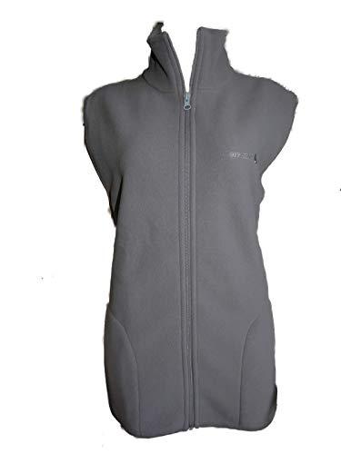 Onbekend fleece Gilet vest voor dames, grijs/bruin, maat S, M, L, XL.