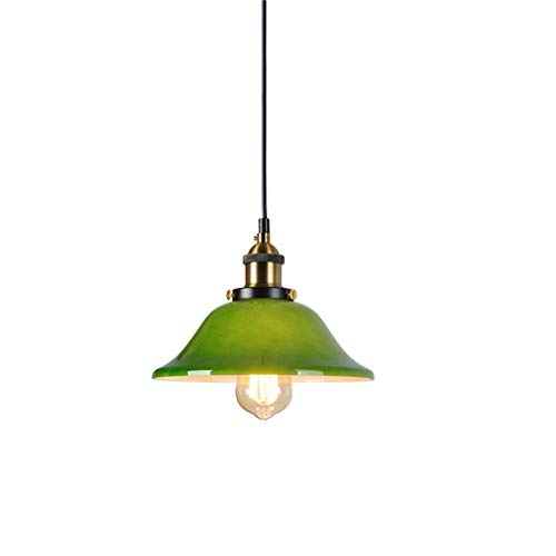 zlw-shop Lámpara Colgante Iluminación Retro nostálgico de la lámpara de Green Bar Sola Cabeza Lámpara Lámpara Lámpara de Techo