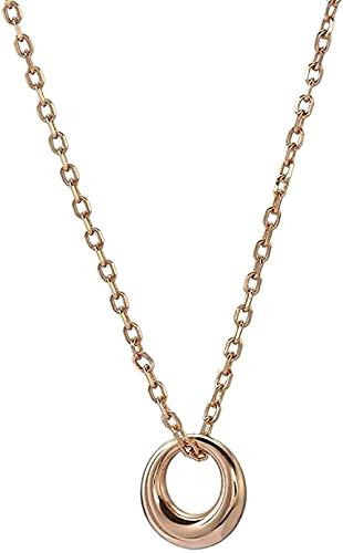 Collar Mujer Collar Hombre Collar Colgante Collar Plata Mujer Cadena Oro Círculo Simple Elegante Collares Pendientes Joyas Regalos para Esposa Mamá Amigo Niñas Cumpleaños San Valentinocol