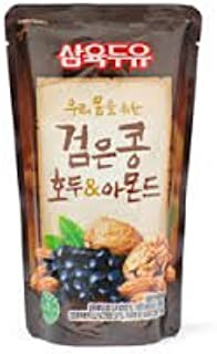 Black Soy milk with walnut and amond 195 ml (10 pack)/ 우리몸을 위한 검은콩 호두 & 아몬드 두유 195 ml (10개)