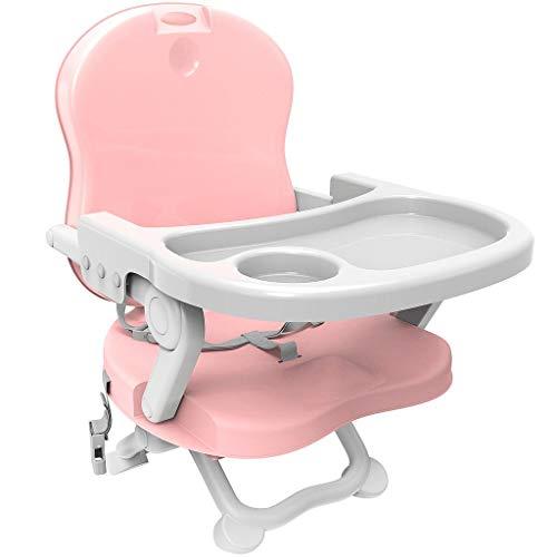 Todeco - Baby Sitzerhöhung, Sitzerhöhung Stuhl Kind, Baby Sitzerhöhung Stuhl, Stuhlsitz Zusammenklappbar Tragbarer - Höhe: 38/42/46/50 cm - Material: PP - Rosa
