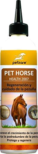 Peticare Aceite de Cuidado para Casco de Caballo - Tratamiento Especial para regeneración de pezuñas secas, sin disolventes, promueve el Crecimiento, 100% Biológico - petHorse Health 2007 (500 ml)