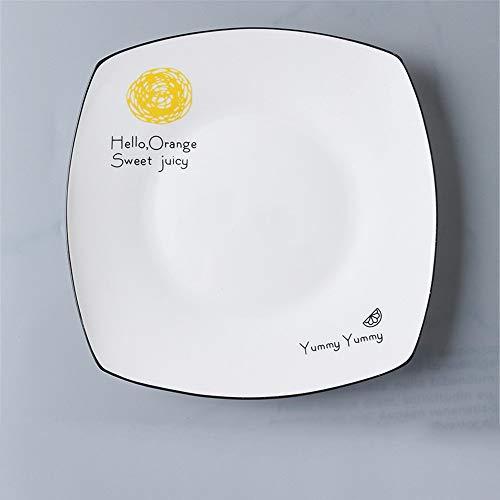 YUWANW plaque occidentale plats créatif vaisselle en céramique Fang Panping marbre plaque petit-déjeuner steak plat plaque carrée - modèles Prince-10 pouces