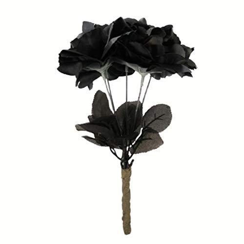Be-Creative Halloween Rosas Negras BOUQUET Bodega Novia Disfraz Da de los Muertos Fiesta Reino Unido