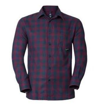 Odlo T-Shirt Manches Longues Double Check pour Homme XL Potent Purple - Navy New