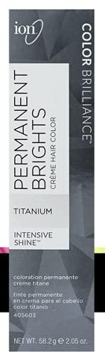 Ion Permanent Brights Creme Hair Color Titanium Titanium