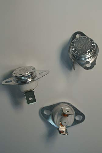 5pcs 175 °C KSD301 NC Manual Reset Bimetal disc Thermostat 16A 125VAC M8-175C-NC16A