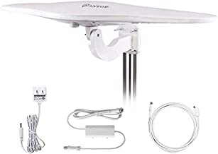 Outdoor/RV HDTV Antenna - ANTOP Omni-Directional Wing TV Antenna with Smartpass Amplifier &Noise-Free 4G Filter and VHF/UHF Range Enhanced for 70 Miles Reception,Suitable for Outdoor/RV/Attic Use
