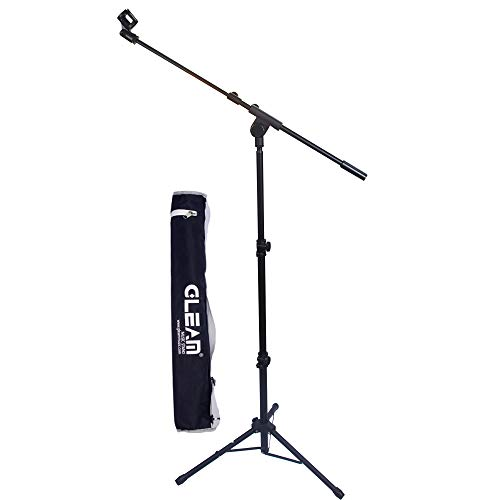 GLEAM Tripod Boom Microphone Stand - Mic Stand with Carrying Bag