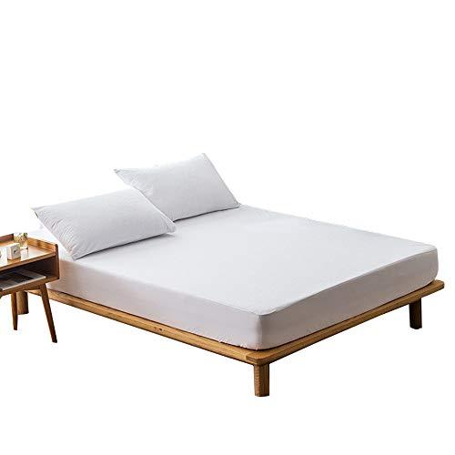 Linsaner Effen Kleur Terry Doek Waterdicht Bed Trampoline Cover Urine Mattrice Anti-slip Beschermende Bed Cover Slaapkamer Hoeslaken
