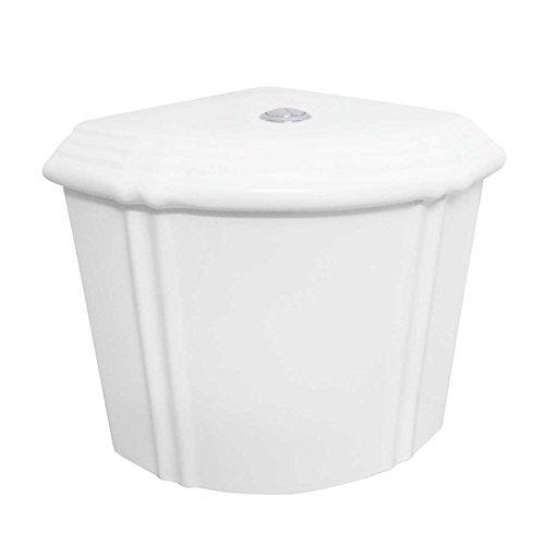 White Sheffield Dual Flush Corner Toilet Tank Grade A Vitreous China