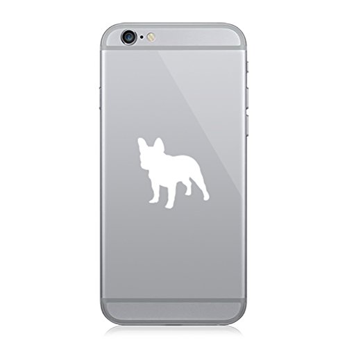 RDW Pair of French Bulldog Cell Phone Stickers Mobile Dog Canine Frenchie - White