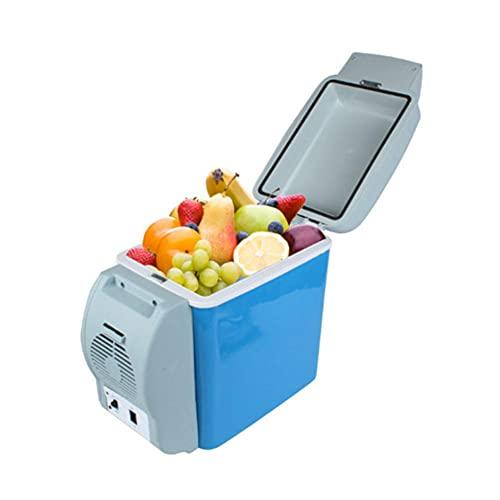 NOVHOME FrigoríFico PequeñO, Refrigerador PortáTil de 7.5 Litros para AutomóVil Caja de Enfriamiento de 12v Mini Congelador para AutomóVil para Conducir Viajes Picnic Al Aire Libre
