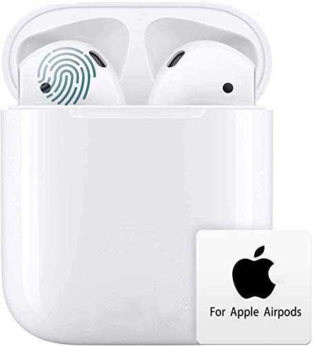 RURUI Auriculares Bluetooth, Auricular Inalámbrico,Control Táctil,Emparejamiento Automático Emergente,In-Ear Auriculares inalámbricos Bluetooth con Micrófono para iPhone Android Airpods Samsung