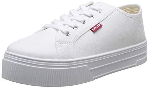 Levi's Tijuana, Zapatillas para Mujer, Blanco (Sneakers 51), 37 EU