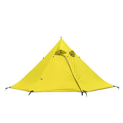 Lixada Pyramid Tent Ultralight 3 Tente à Dos pour 4 Personnes Tente étanche 4 Saisons
