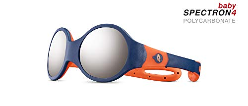 Julbo Jungen Loop M Sonnenbrille, Dunkelblau/Orange, 1-3 Years