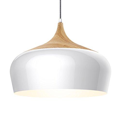 Tomons lámpara de techo lámpara colgante plafonera en metal efecto madera, bombilla LED de 8W para comedor, cocina, bar, sala de estar estudio - PL1001