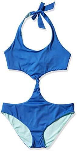 Dolce Vita Women's Convertible Reversible Monokini Swimsuit, I Think Not Majorelle, Large