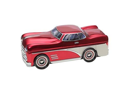 POWERHAUS24 Oldtimer Amerikanische Limousine Aufbewahrungsdose Blechdose Keksdose, Vol. 1,3l inkl. PH24 Backrezept