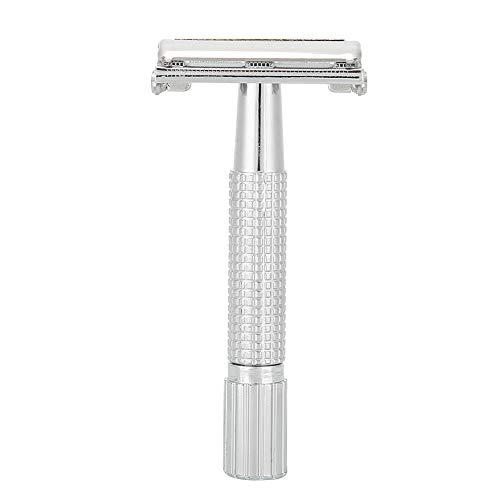 Maquinilla de afeitar manual, cuchillo de afeitar para hombres Maquinilla de afeitar manual para hombre Afeitadora de barba de doble filo recta clásica con estuche